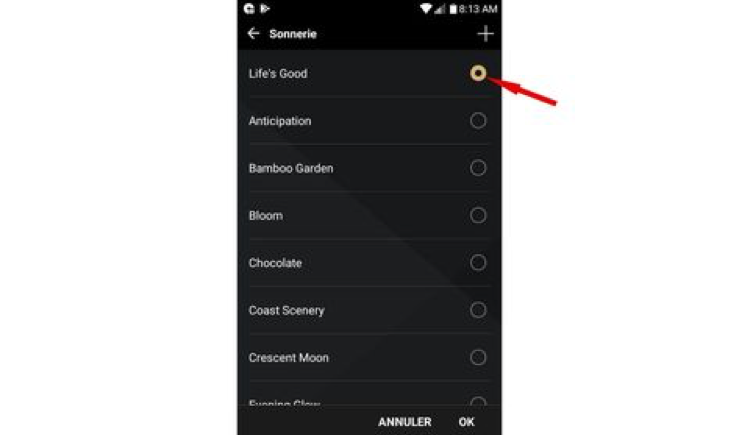 Changer sonnerie android